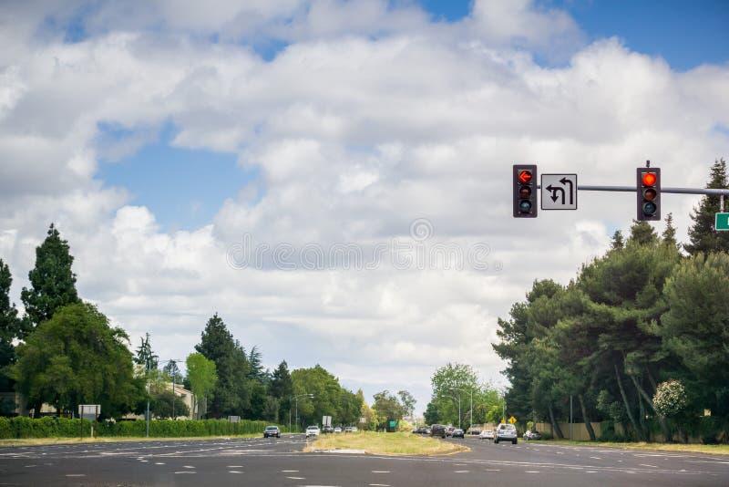 交通连接点,加利福尼亚 免版税库存图片
