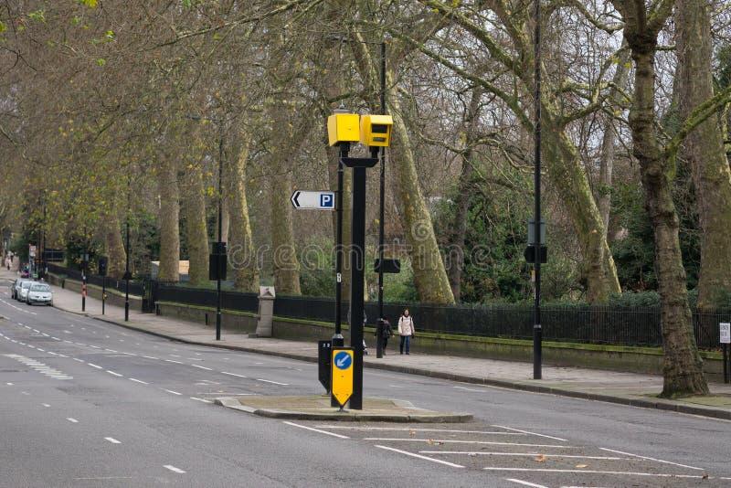 交通速度照相机在伦敦 库存照片
