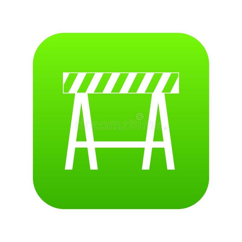 交通障碍象数字式绿色 库存例证