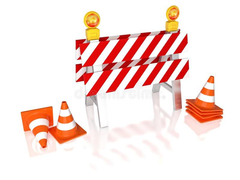 交通障碍3d 向量例证