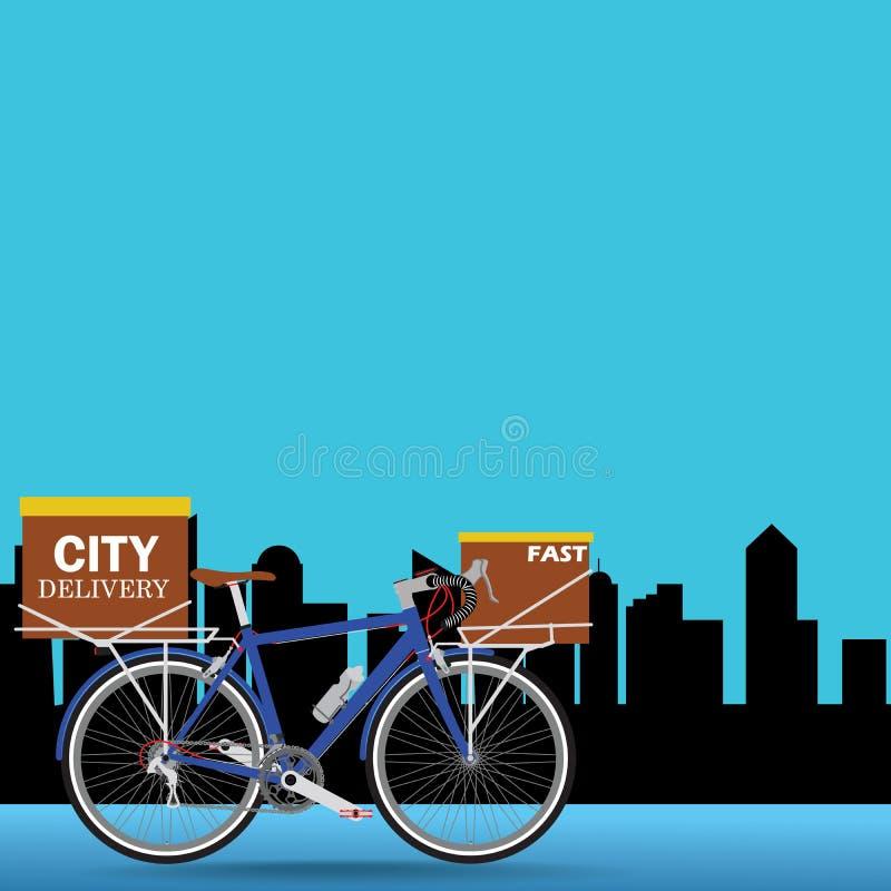 交付自行车 向量例证