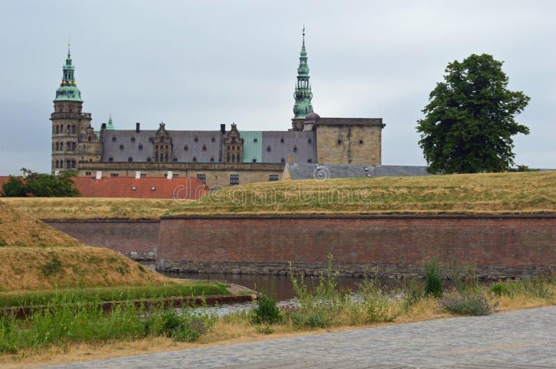 亦称克伦堡城堡小村庄城堡,丹麦 库存照片