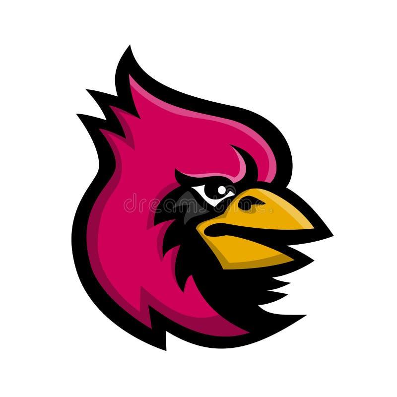 亦称吉祥人一位主教的头的象例证,Cardinalidae家庭的,主要一只燕雀类的鸟找到在美国 皇族释放例证