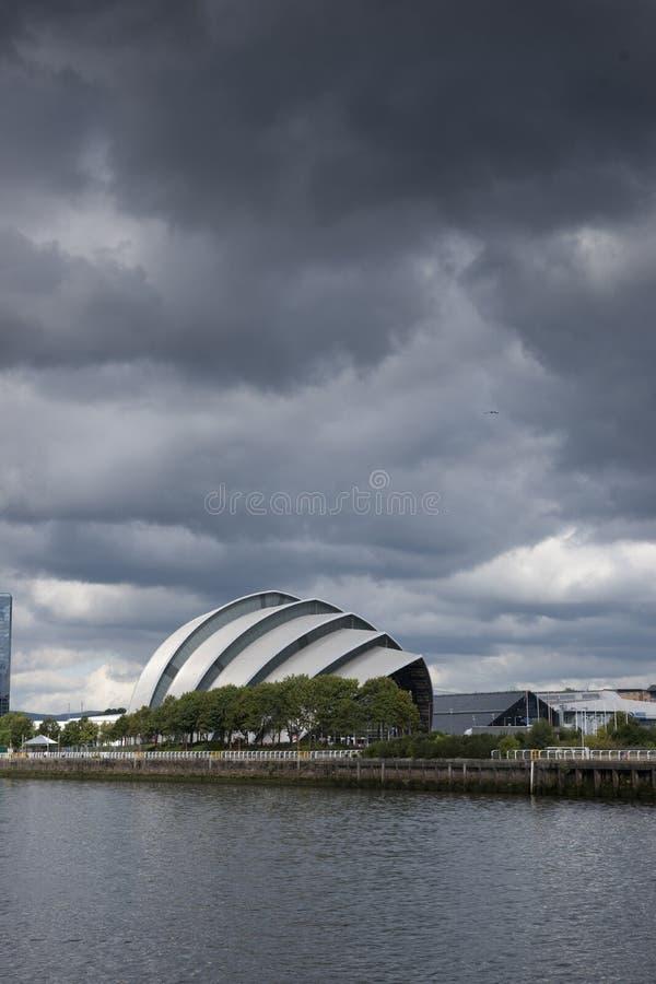 亦称格拉斯哥,苏格兰,2013年9月7日,SEC克莱德观众席SEC犰狳 免版税库存照片