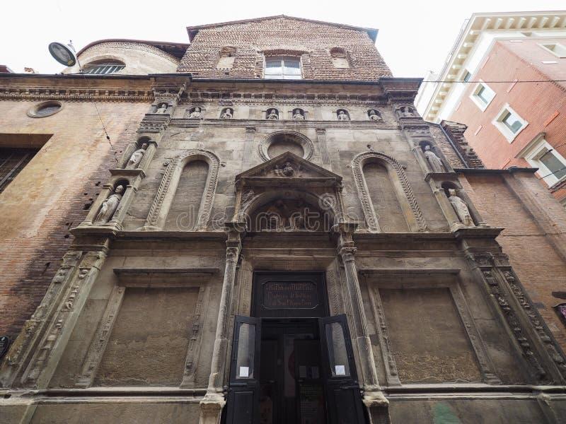 亦称玛丹娜二加列拉教会圣菲利波Neri在波隆纳 库存照片