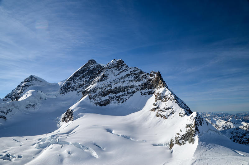 亦称登上欧洲Jungfraujoch上面  免版税库存图片