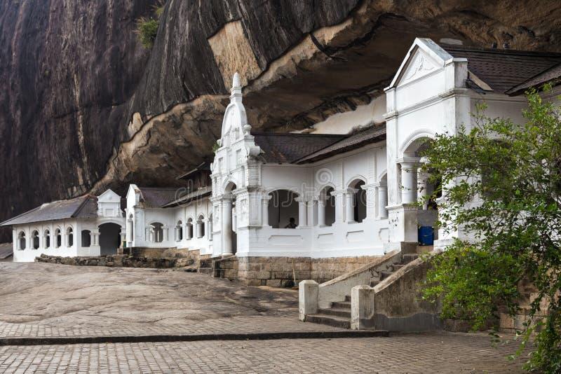 亦称Dambulla洞寺庙金黄寺庙 免版税库存图片