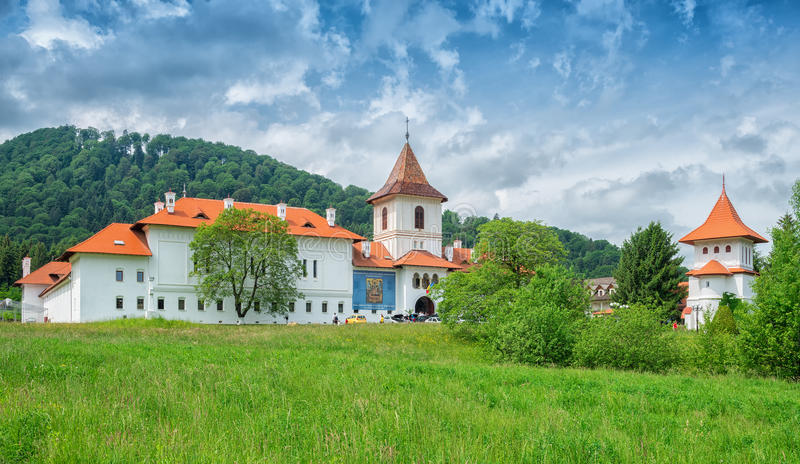 亦称Sambata de Sus Monastery Brancoveanu修道院 免版税图库摄影