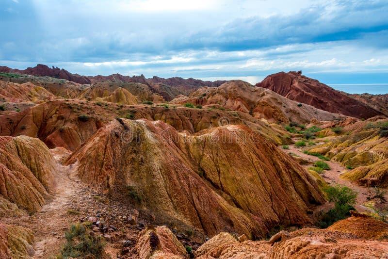 亦称Skazka童话峡谷,吉尔吉斯斯坦 免版税库存照片