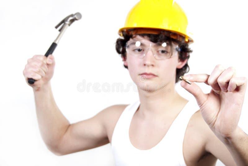产业工人 库存图片