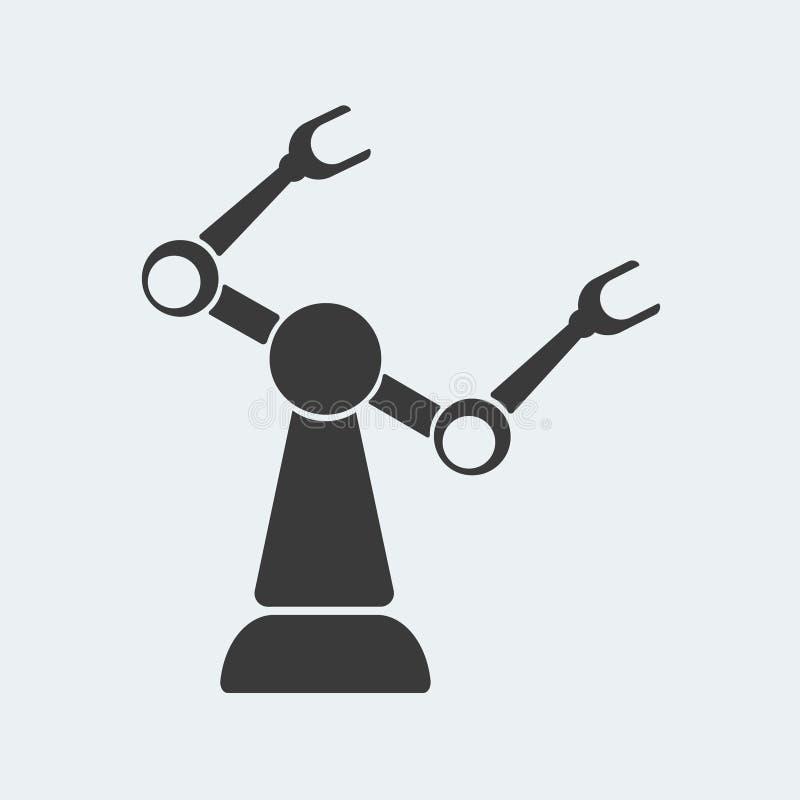 产业机器人象用强有力的手 皇族释放例证