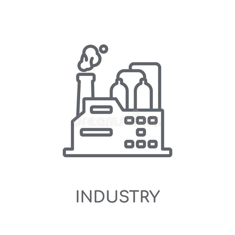 产业线性象 在wh的现代概述产业商标概念 库存例证