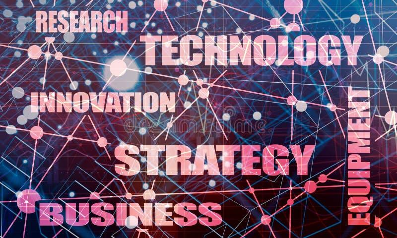 产业词云彩概念 向量例证