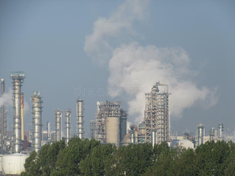 产业鹿特丹炼油厂 图库摄影