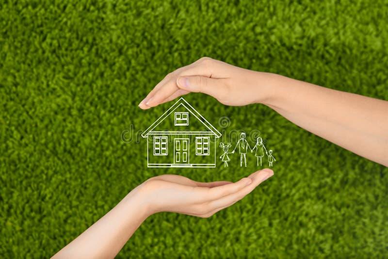 财产保险和安全概念 库存图片