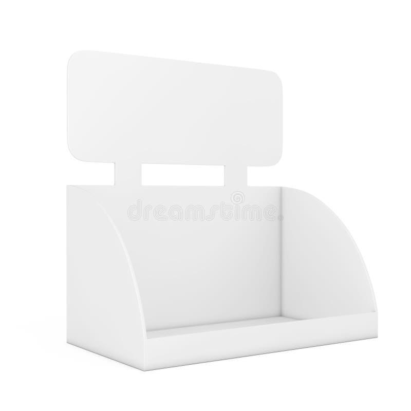 产品促进的空白的空的箱子显示与拷贝空间f 皇族释放例证
