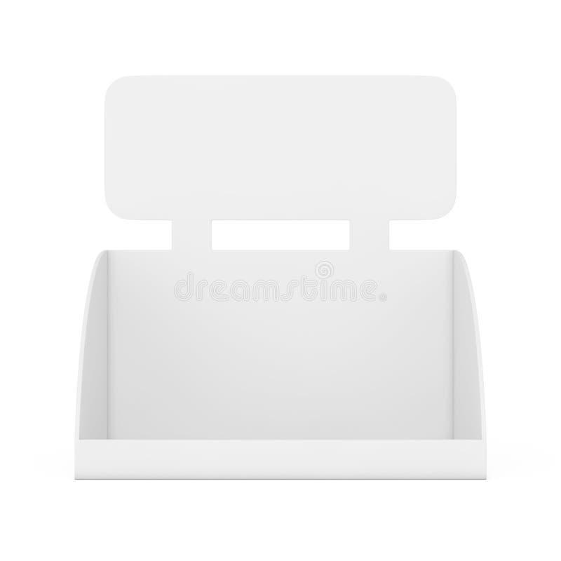 产品促进的空白的空的箱子显示与拷贝空间f 向量例证
