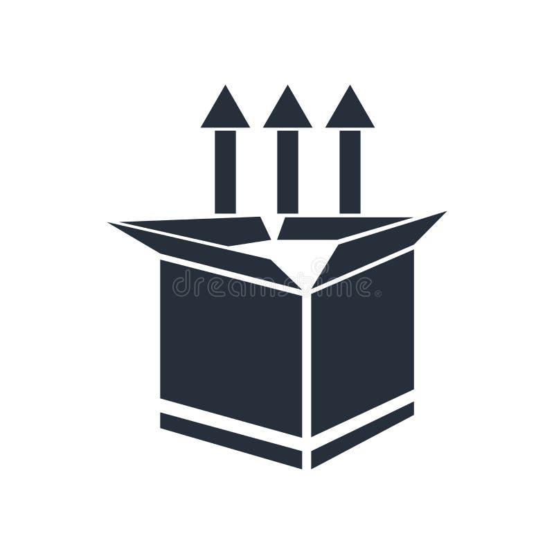 产品推广象在白色背景和标志隔绝的传染媒介标志,产品推广商标概念 皇族释放例证