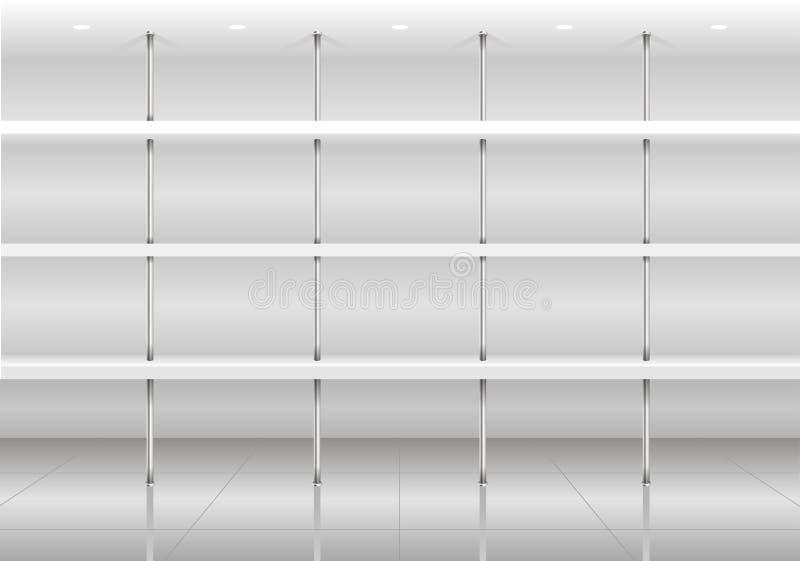 产品架子模板白色 库存例证