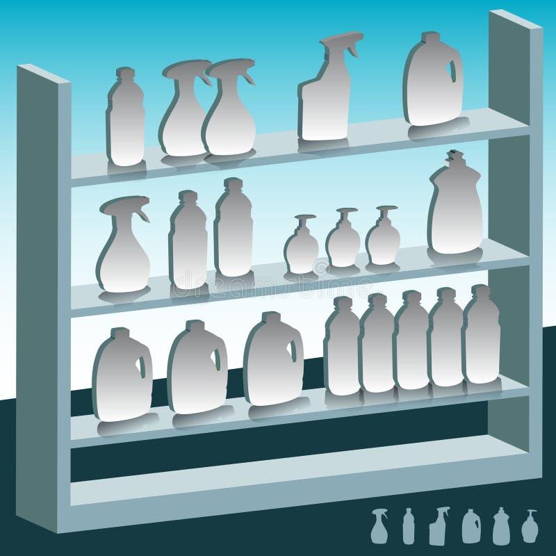 产品架子 库存例证