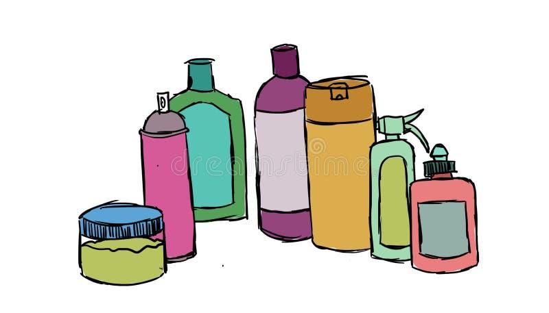 产品瓶,例证 皇族释放例证