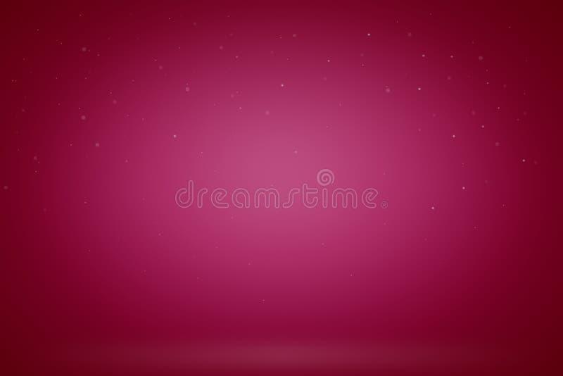 产品空的红色演播室室背景、模板嘲笑为显示或蒙太奇  向量例证