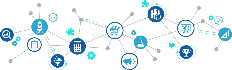 产品管理/产品开发/产品销售–传染媒介例证 库存例证