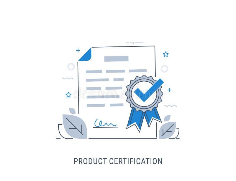产品认证传染媒介例证 库存照片