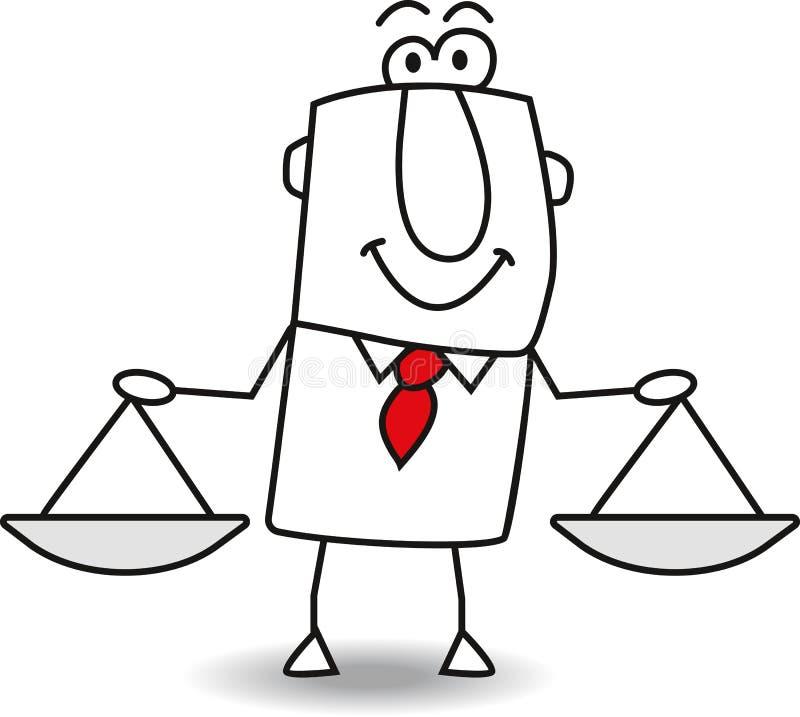 产权和正义 库存例证