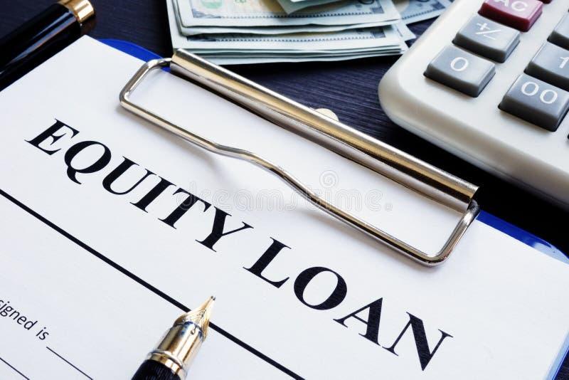 产权贷款应用和计算器 免版税库存照片
