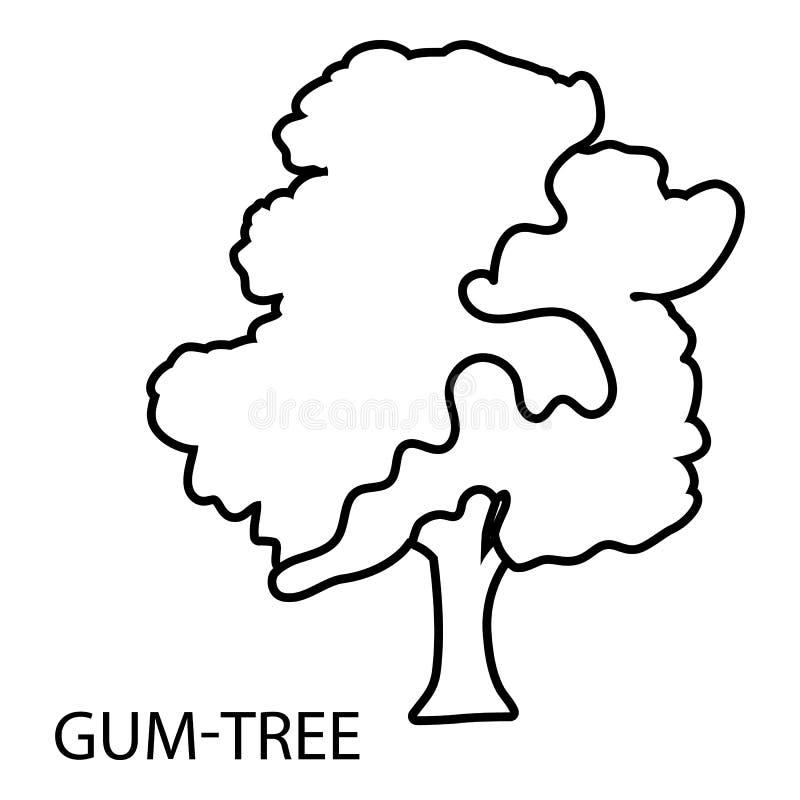 产树胶之树象,概述样式 库存例证