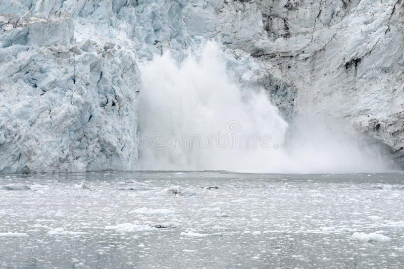 产犊冰川margerie 图库摄影