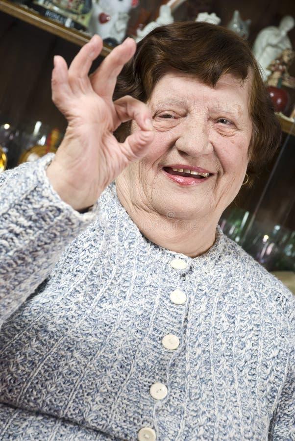 产生好的更老的符号妇女 免版税图库摄影