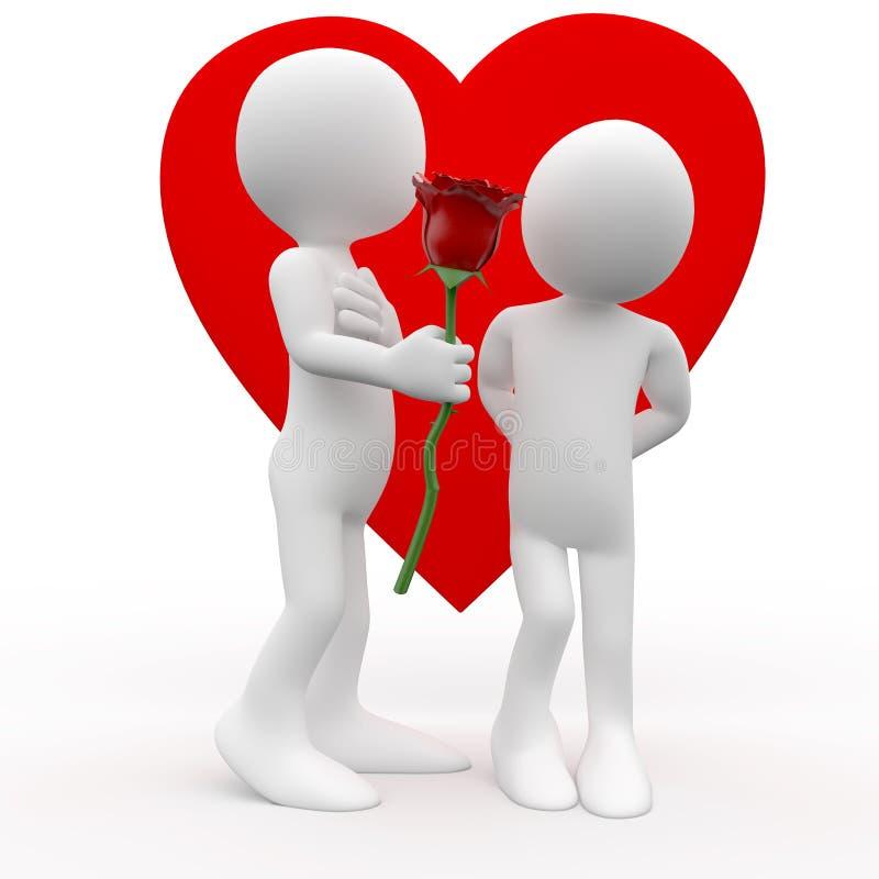 产生爱人玫瑰色符号妇女 皇族释放例证