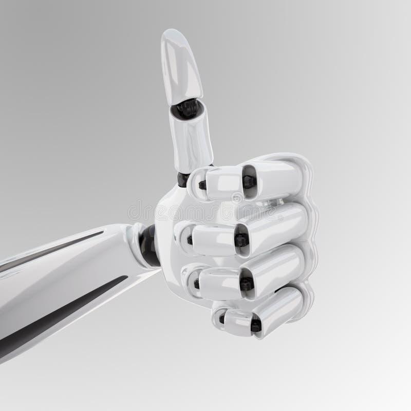 产生现有量的3d机器人 皇族释放例证