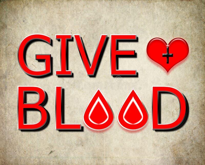 产生血液,捐赠概念 拯救生命 库存例证