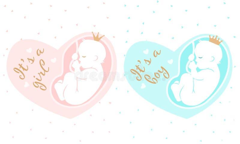 产科例证 29腹部弓女孩查出在桃红色怀孕的星期 它是男孩 皇族释放例证