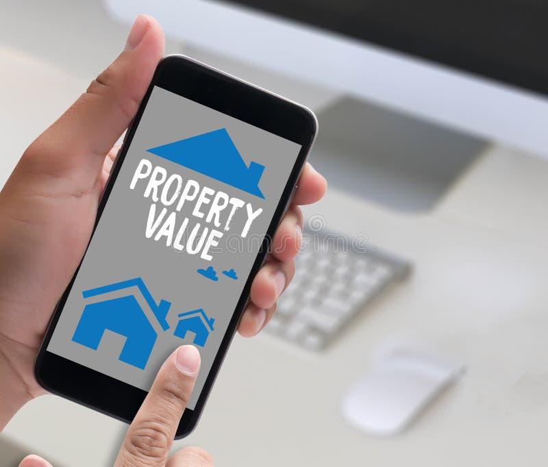 财产价值,商人财产价值,适当的房地产 库存例证