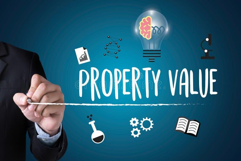 财产价值,商人财产价值,适当的房地产 皇族释放例证