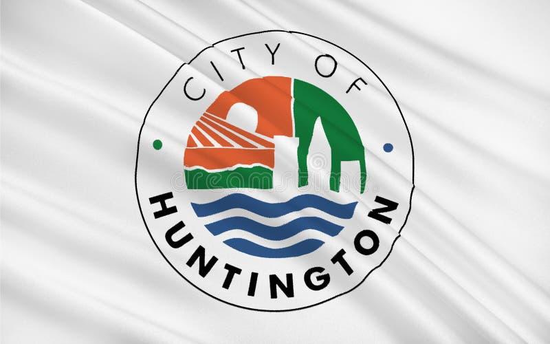 亨廷顿旗子在西维吉尼亚,美国 皇族释放例证