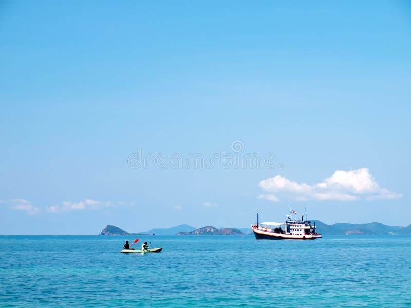 享受划船 库存图片