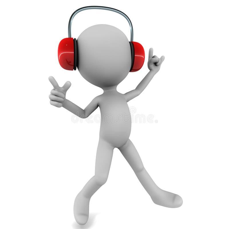 享受音乐当事人 向量例证