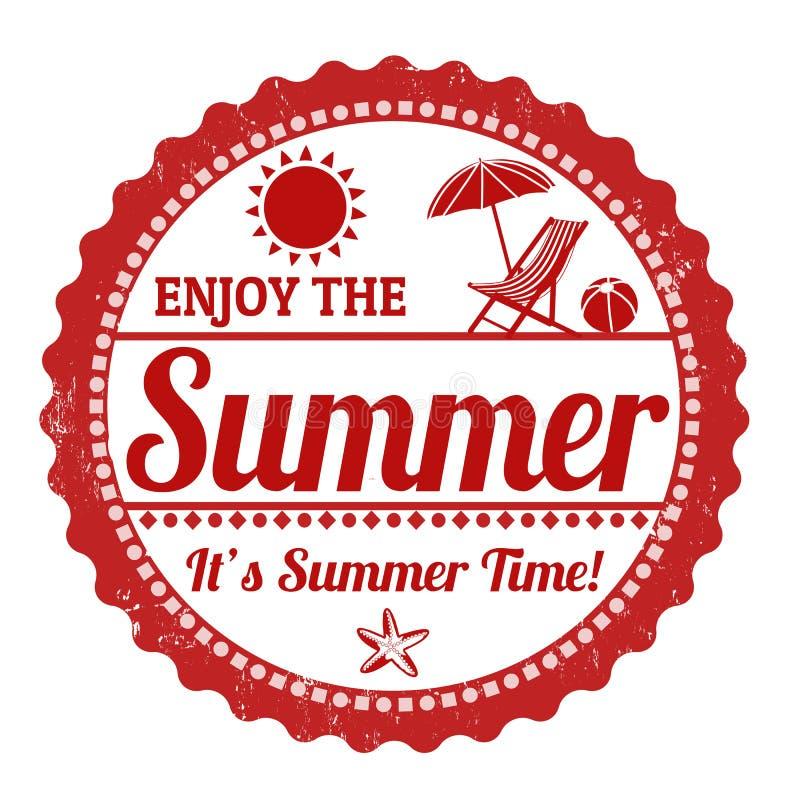 享受夏天邮票 库存例证