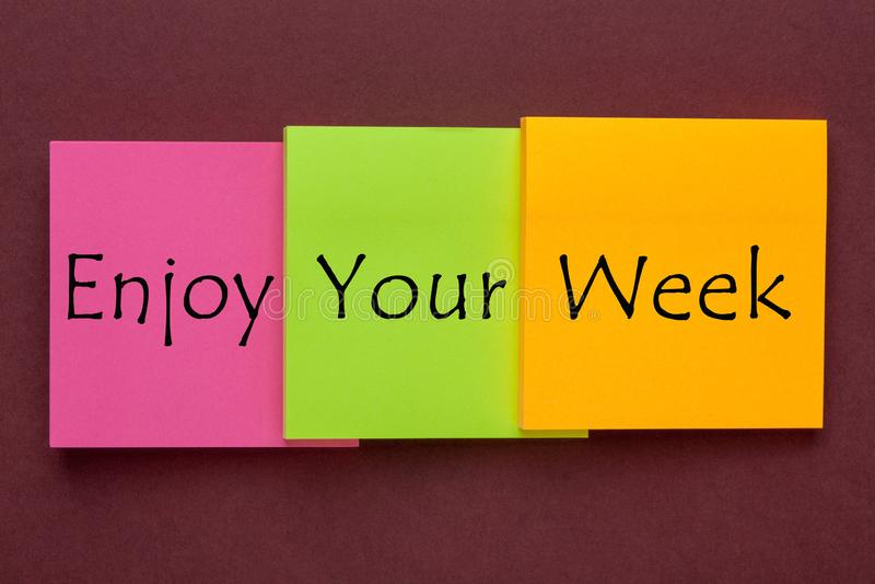 享受您的星期 免版税图库摄影