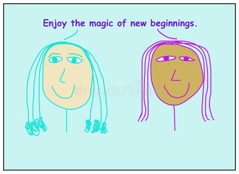 享受新开始的魔力 免版税库存图片