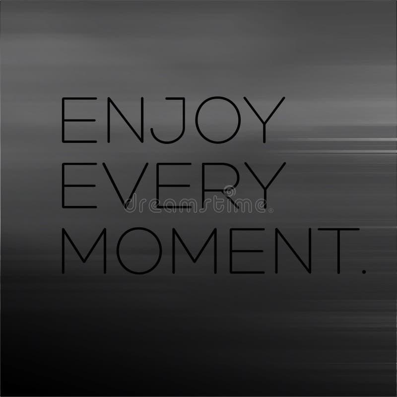 享受每片刻刺激行情 向量例证