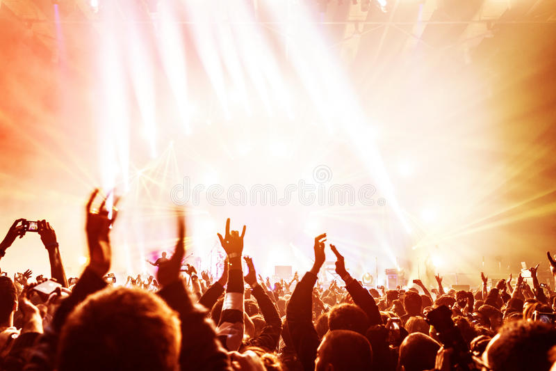 享受音乐会的人群 图库摄影