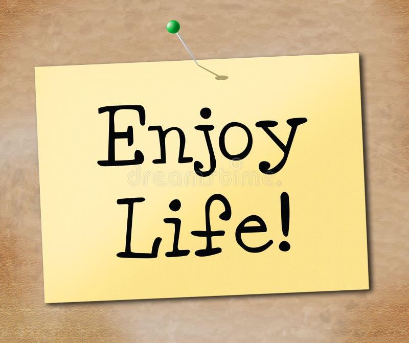享有生活表明欢腾的幸福和快乐 皇族释放例证