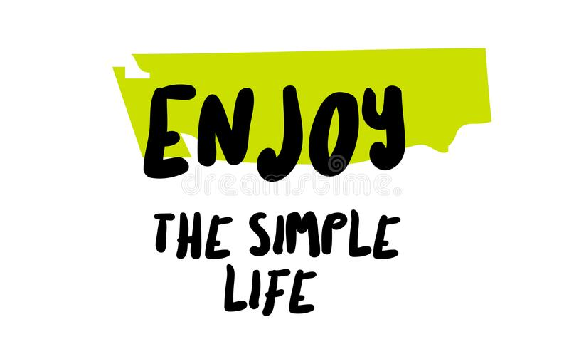 享有简单的生活 库存例证