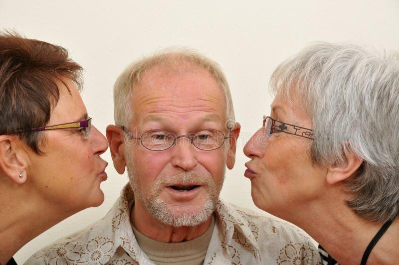 享用人前辈的喜爱 免版税图库摄影